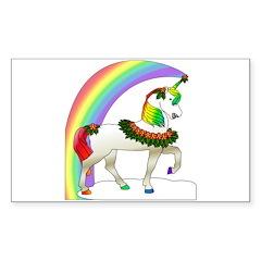Rainbow Unicorn Rectangle Decal
