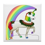 Rainbow Unicorn Tile Coaster