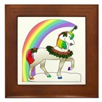 Rainbow Unicorn Framed Tile