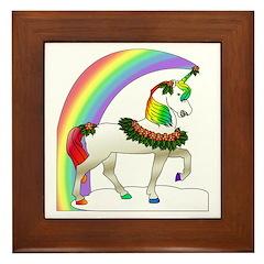 Rainbow Unicorn Framed Tile