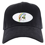 Rainbow Unicorn Black Cap