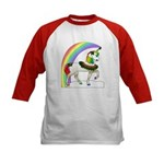 Rainbow Unicorn (2-sided) Kids Baseball Jersey
