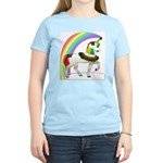 Rainbow Unicorn Women's Pink T-Shirt