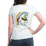 Rainbow Unicorn (Back Design) Jr. Ringer T-Shirt