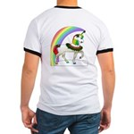 Rainbow Unicorn (Back Design) Ringer T