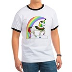 Rainbow Unicorn Ringer T