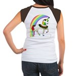 Rainbow Unicorn (Back Design) Women's Cap Sleeve T