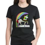 Rainbow Unicorn Women's Dark T-Shirt