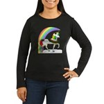 Rainbow Unicorn Women's Long Sleeve Dark T-Shirt