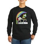 Rainbow Unicorn Long Sleeve Dark T-Shirt