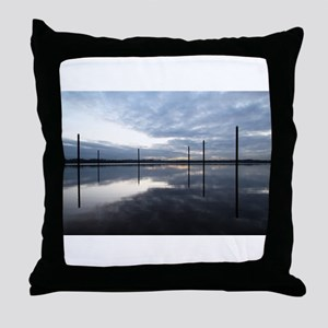 Breaking Dawn Over Still Water Throw Pillow