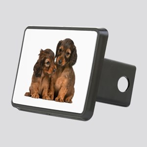 Longhaired Dachshund Siblings Rectangular Hitch Co