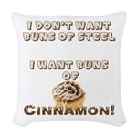 Buns Of Cinnamon Woven Throw Pillow