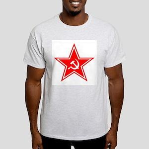 Red Soviet Ash Grey T-Shirt