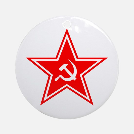 Red Soviet Ornament (Round)