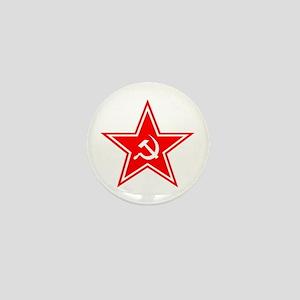 Red Soviet Mini Button