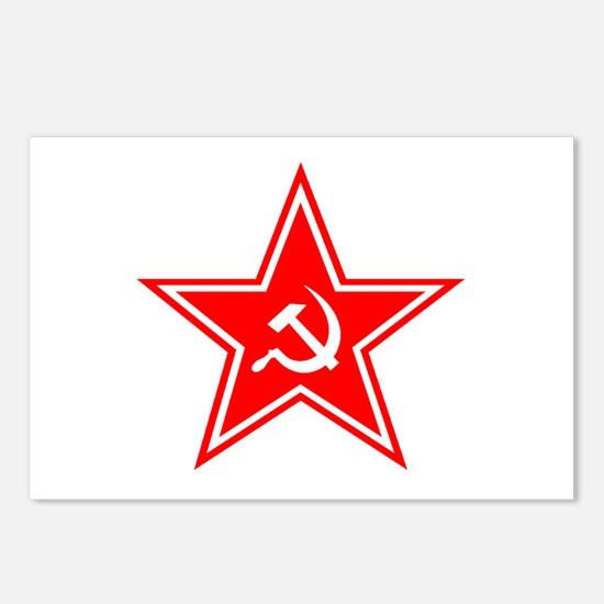 Red Soviet Postcards (Package of 8)