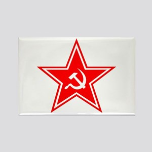 Red Soviet Rectangle Magnet