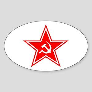 Red Soviet Oval Sticker