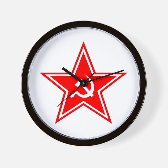 Red Soviet Wall Clock