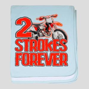 2 Strokes Forever baby blanket