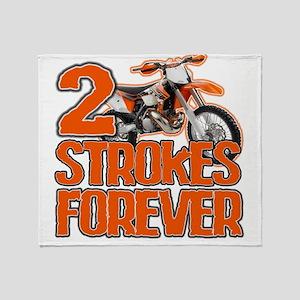 2 Strokes Forever Throw Blanket