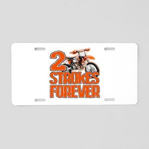 2 Strokes Forever Aluminum License Plate