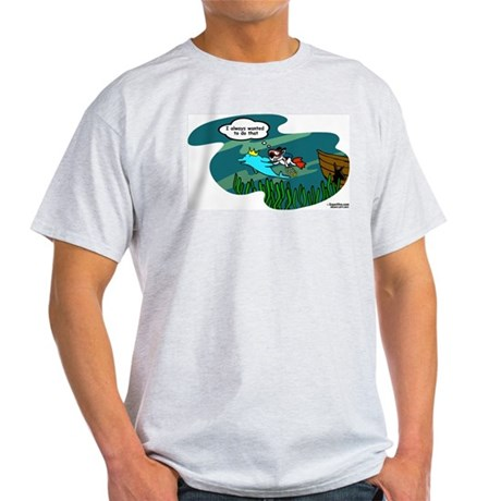VivaPup: Swims With Dolphins Ash Grey T-Shirt