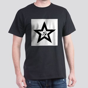 B/W Soviet Star Dark T-Shirt