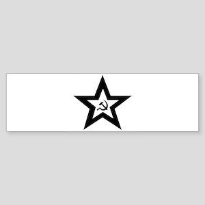 B/W Soviet Star Bumper Sticker