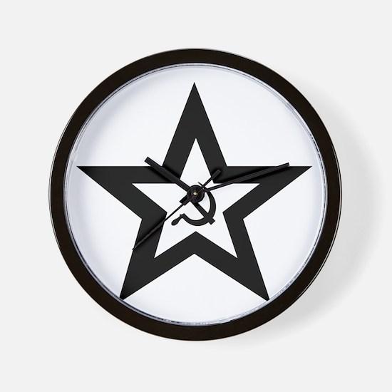 B/W Soviet Star Wall Clock