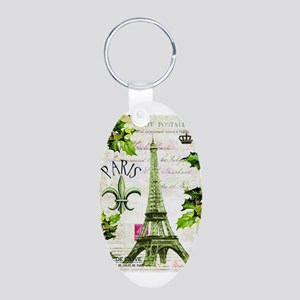 Vintage French Christmas in Paris Keychains