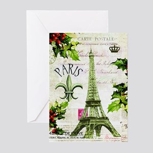 Vintage French Christmas in Paris Greeting Cards (