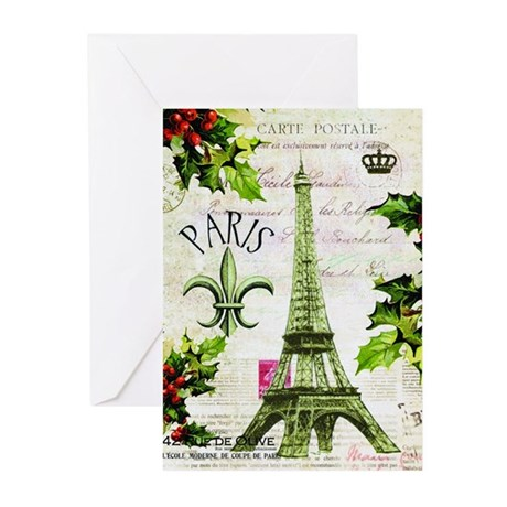Vintage french christmas in paris greeting cards by vintage french christmas in paris greeting cards m4hsunfo Images