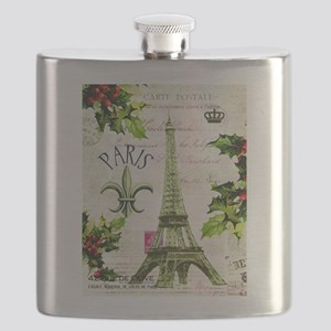 Vintage French Christmas in Paris Flask