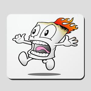 Funny Flaming Marshmallow Mousepad