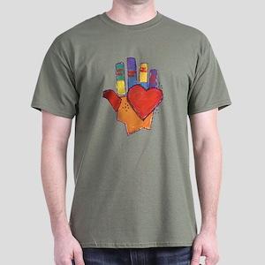 Hand and Heart Dark T-Shirt