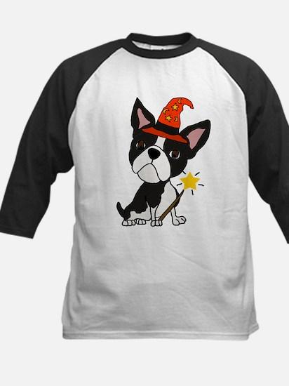 Boston Terrier Halloween Art Baseball Jersey