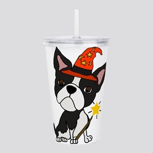 Boston Terrier Hallowe Acrylic Double-wall Tumbler
