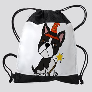 Boston Terrier Halloween Art Drawstring Bag