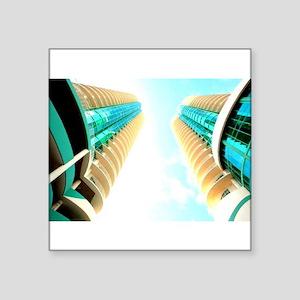 Turquoise Condo in the Sky Sticker