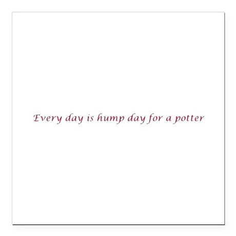 Every day is hump day for a potter Square Car Magn