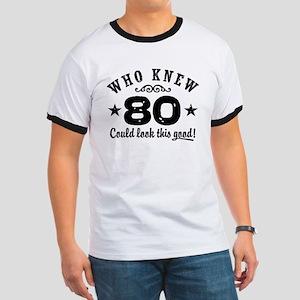 Funny 80th Birthday Ringer T