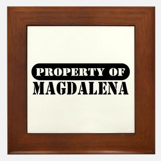 Property of Magdalena Framed Tile
