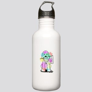 Snowcone Splash Doodle Dog Water Bottle