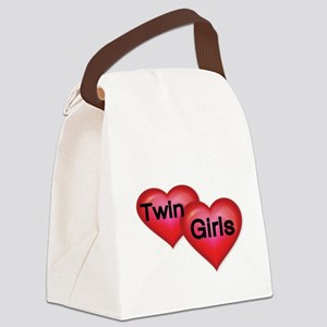 TWIN GIRLS Canvas Lunch Bag
