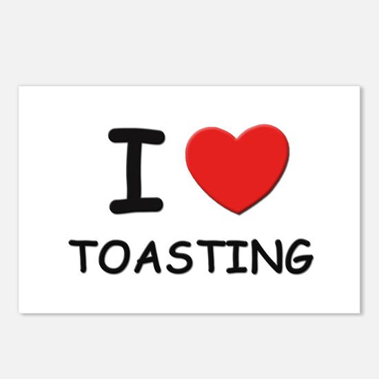 I love toasting Postcards (Package of 8)