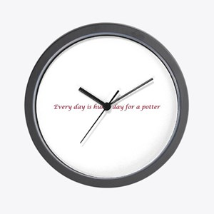 Every day is hump day for a potter Wall Clock