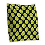 Tennis Balls Burlap Throw Pillow