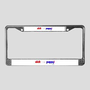 """Kick"" License Plate Frame"